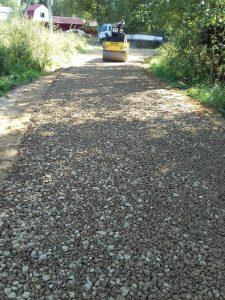 строительство дорог щебень